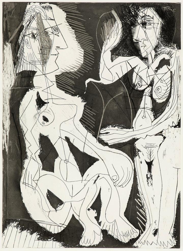 Pablo Picasso / Pierre Reverdy Sable Mouvant (Treibsand), 1966, Radierung © VG Bild-Kunst, Bonn 2018